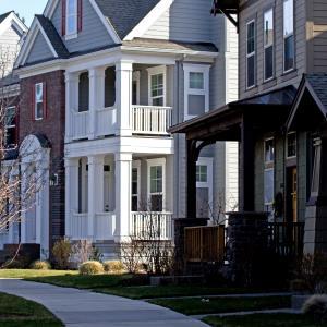 House along sidewalk